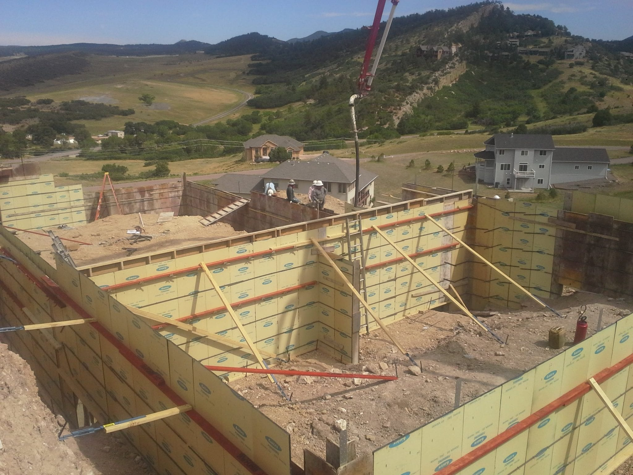 foundation being constructed by Nelson and Son