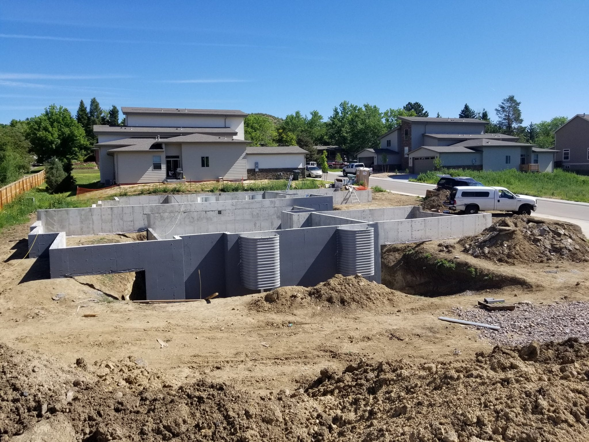 New home foundation being built by Nelson and Son