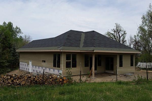 colorado custom home under construction