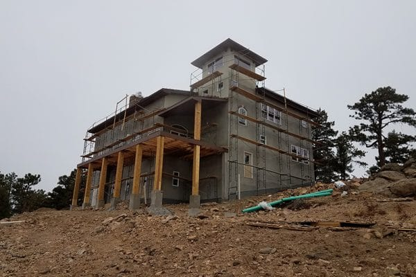 Custom home being constructed in the denver area