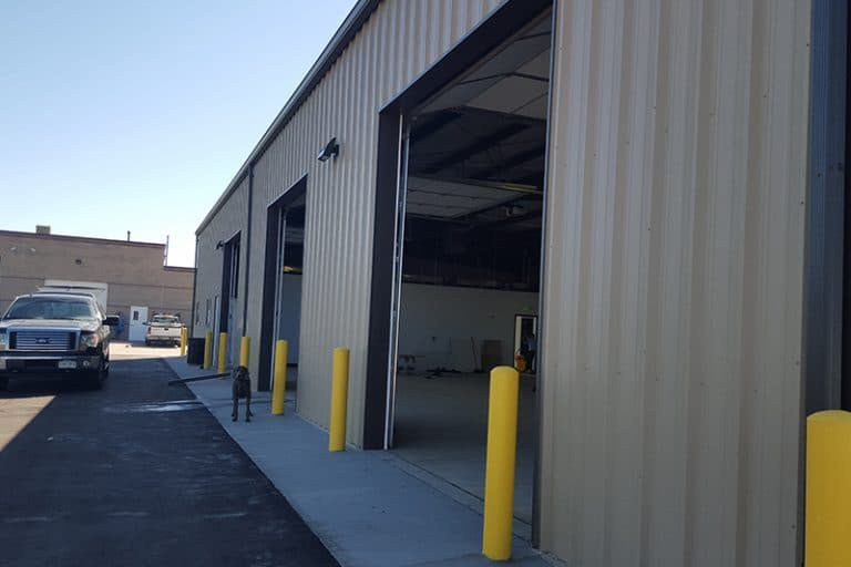 Steel building construction for commercial spaces
